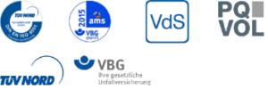 Videoüberwachungssysteme und App-Kameralösungen - logos zertifikate 300x101