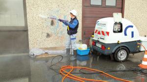 Entfernung von Graffiti, Fassadenreinigung, Denkmalreinigung - graffitientfernung01 300x168