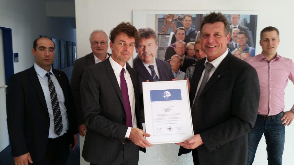 Erneute AMS-Zertifikatsverleihung an GÜLICH GRUPPE Sicherheitsdienste GmbH - ams 1024x576