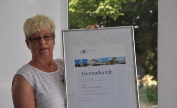 Ehrenurkunde Arbeitsjubiläum Marie-Luise Herzberg