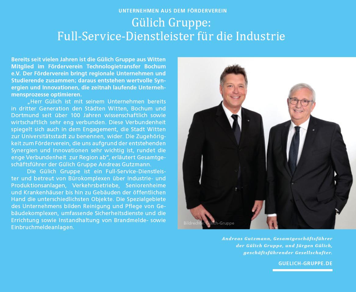 Full-Service Dienstleister für die Industrie - Artikel Gülich