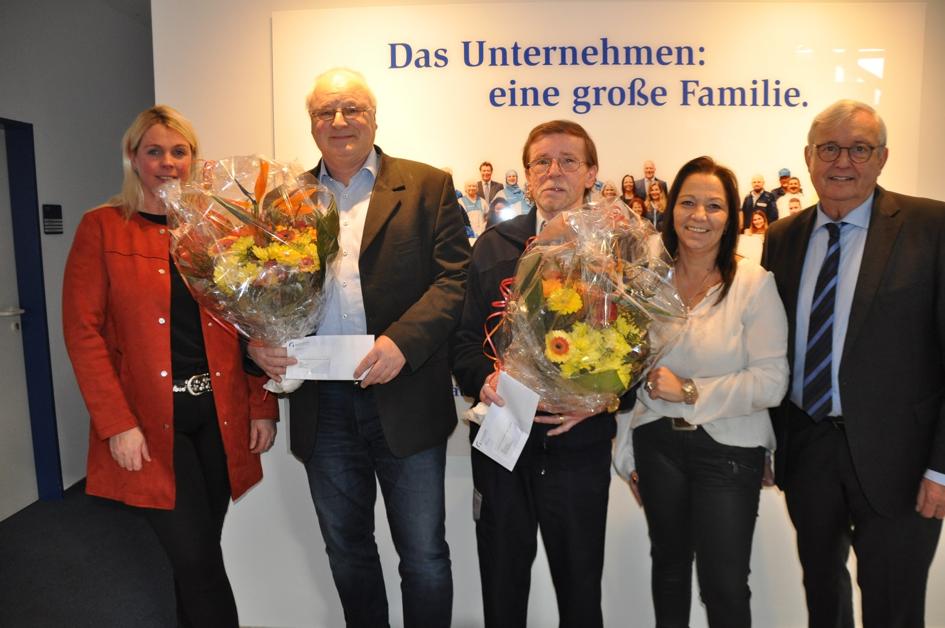 Dienstjubiläum von Heinz Fischer und Hans Schmidt - dienstjubilaeum